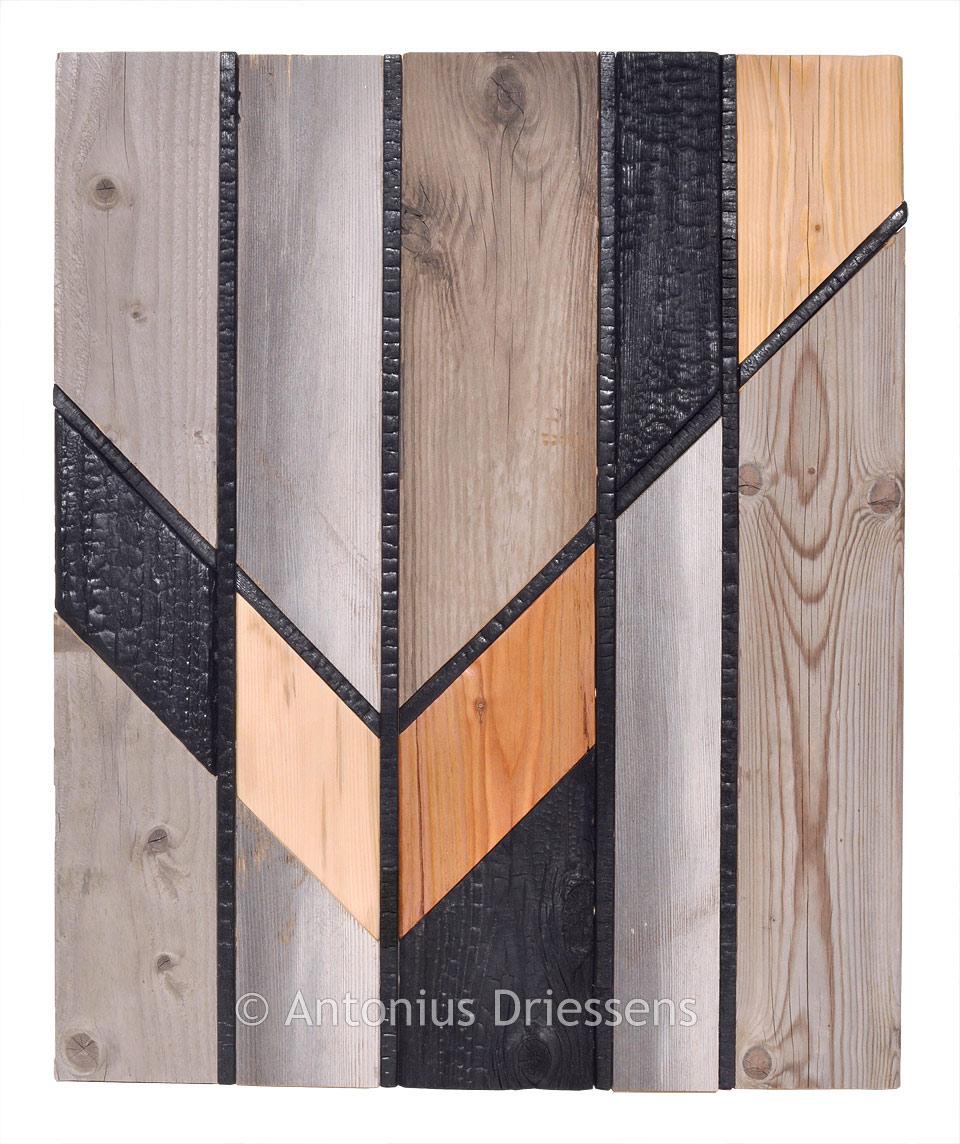 Wooden Wall Panel De Stijl 10 12